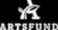 Artsfund logo stacked white sm